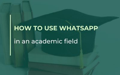 How to use WhatsApp in an academic field