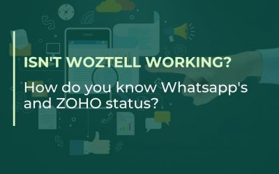 Isn't WOZTELL working? How do you know the status of WhatsApp and ZOHO?