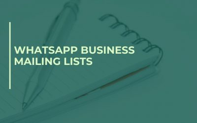 WhatsApp Business Mailing Lists