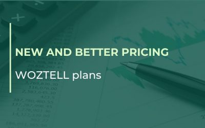 New and better pricing WOZTELL plans