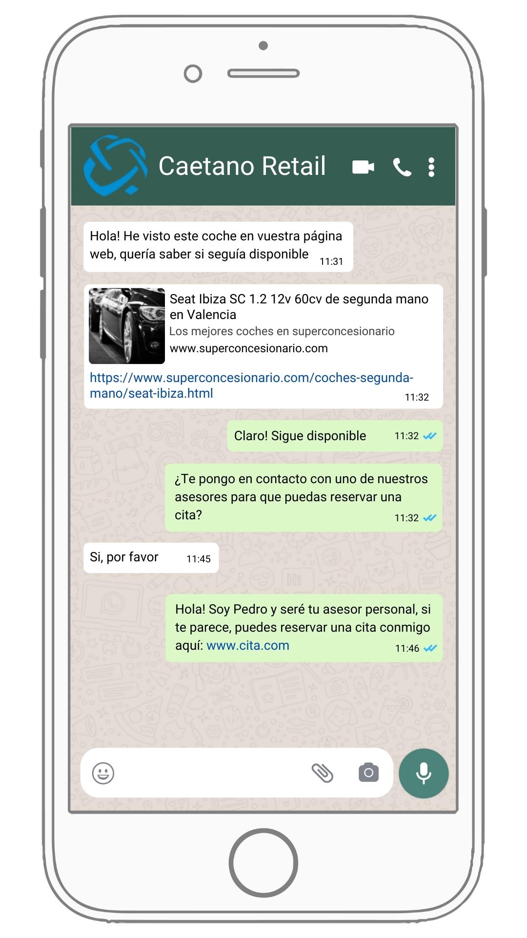 Caetano retail WhatsApp