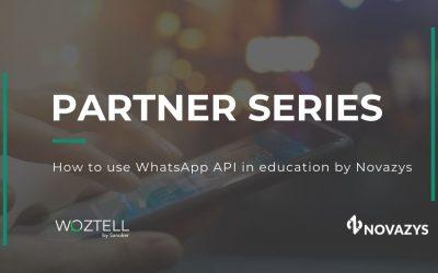 Partner Talks capítulo 1: Cómo utilizar la API de WhatsApp en la educación por Novazys