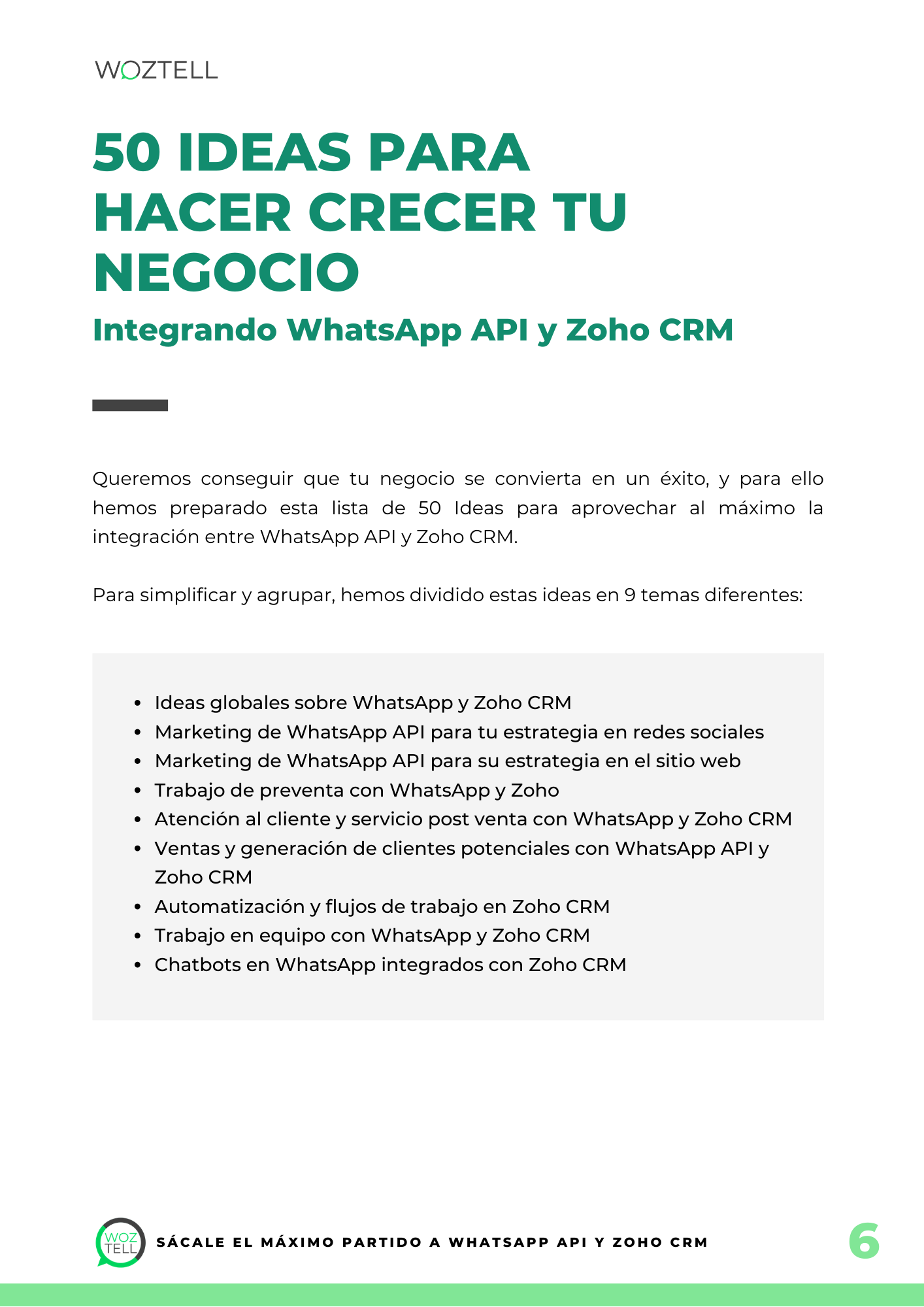 Sácale el máximo partido a WhatsApp API y Zoho CRM