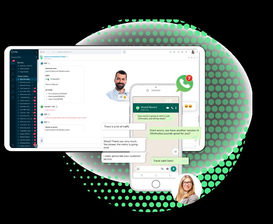 WhatsApp API + Zoho CRM.
