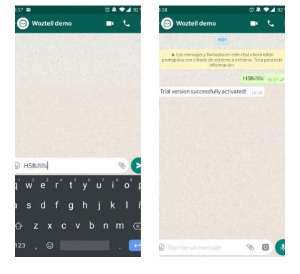 whatsapp trial