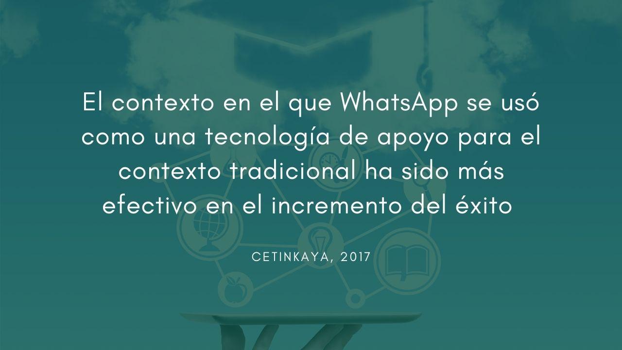 el contexto de Whatsapp