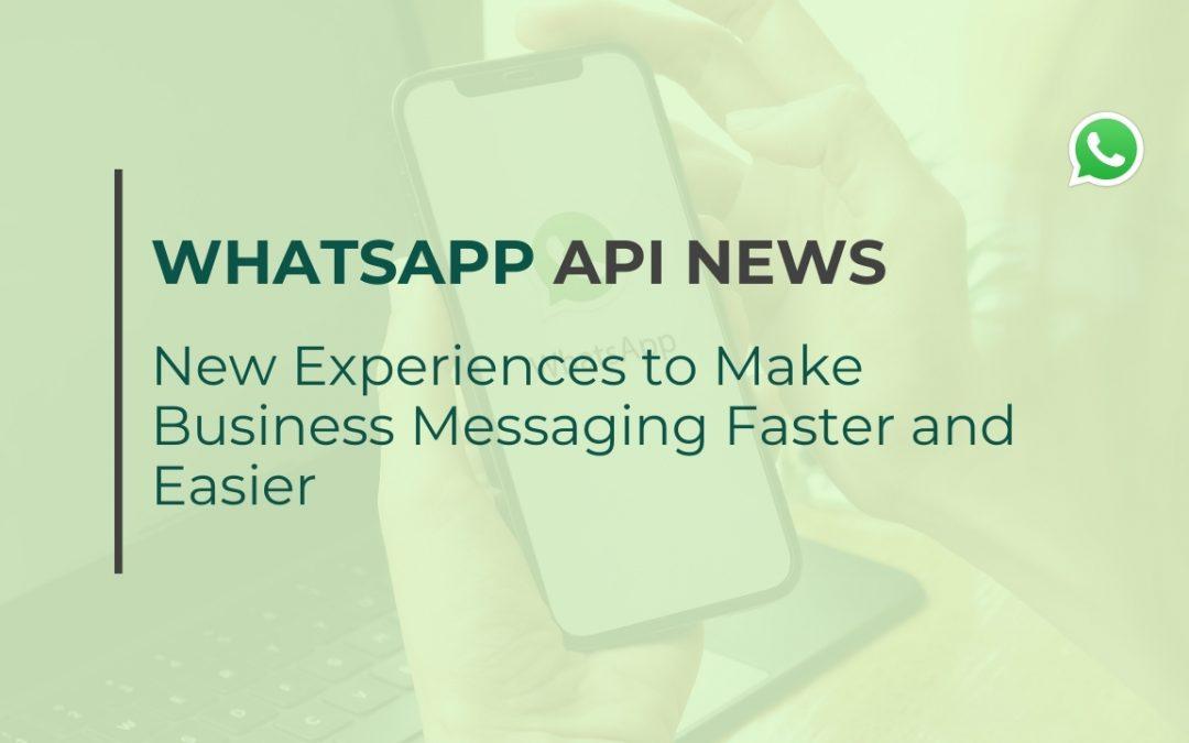 WhatsApp API news